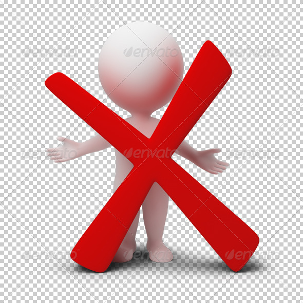 GraphicRiver 3D small people negative symbol 4917178