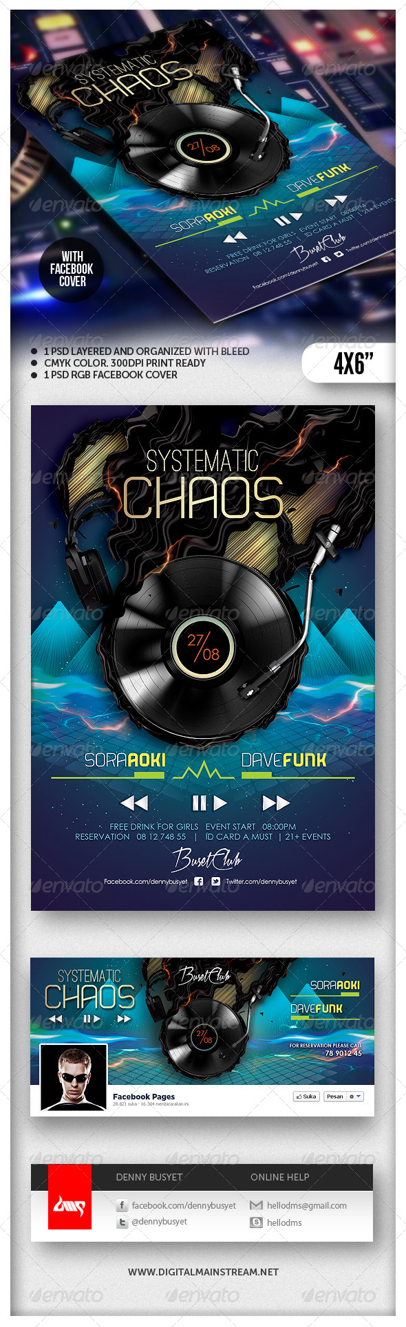 GraphicRiver Systematic Chaos Nightclub Flyer Template 4860406