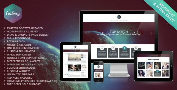 Galaxy Responsive Portfolio WordPress Theme - Portfolio Creative
