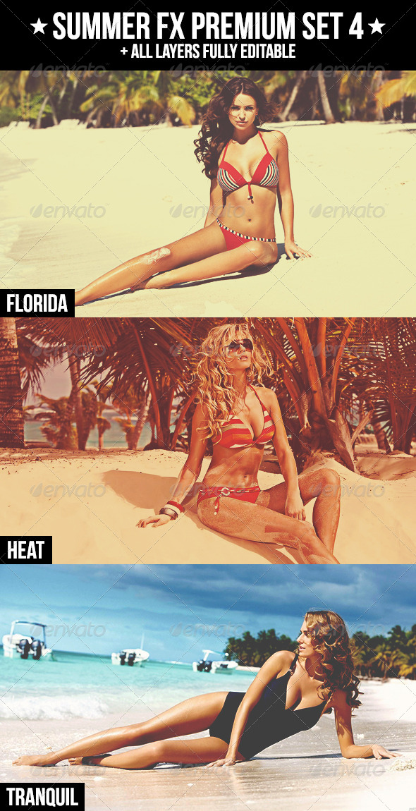Summer FX Premium Set 4 - Photo Effects Actions