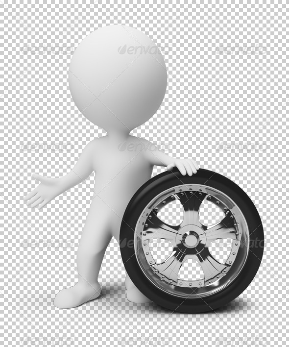 GraphicRiver 3D small people wheel 4918924