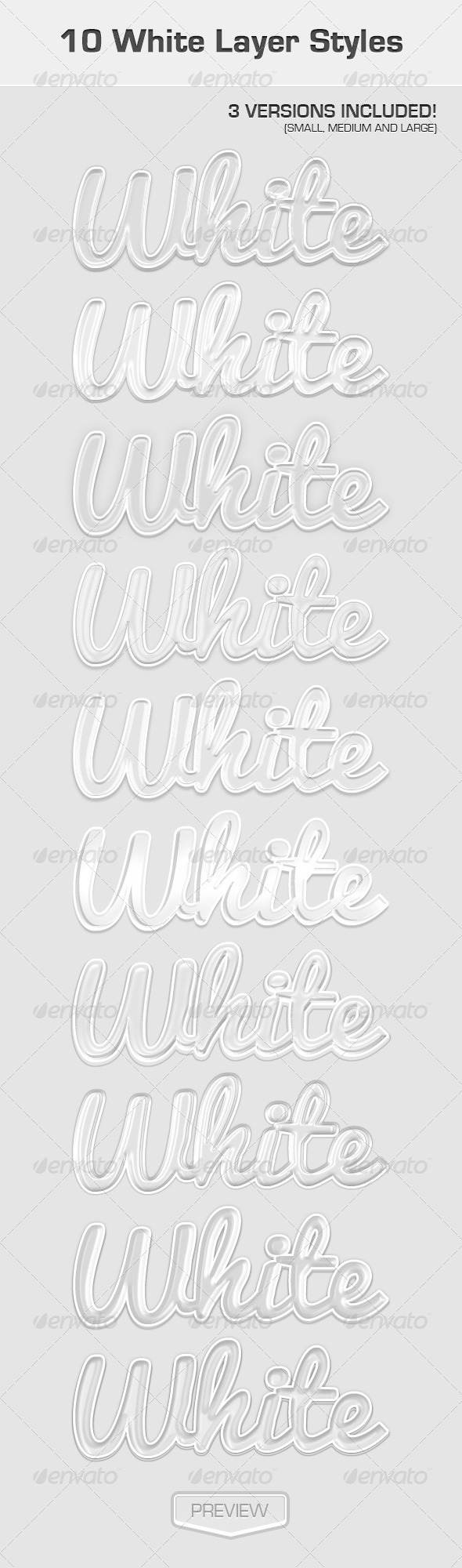 GraphicRiver White Text Effects 4919121