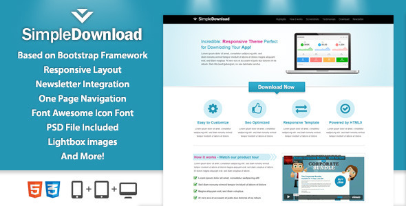 ThemeForest SimpleDownload Landingpage 4832458