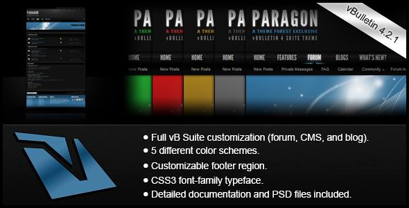 ThemeForest Paragon A vBulletin 4 Suite Theme 4884888