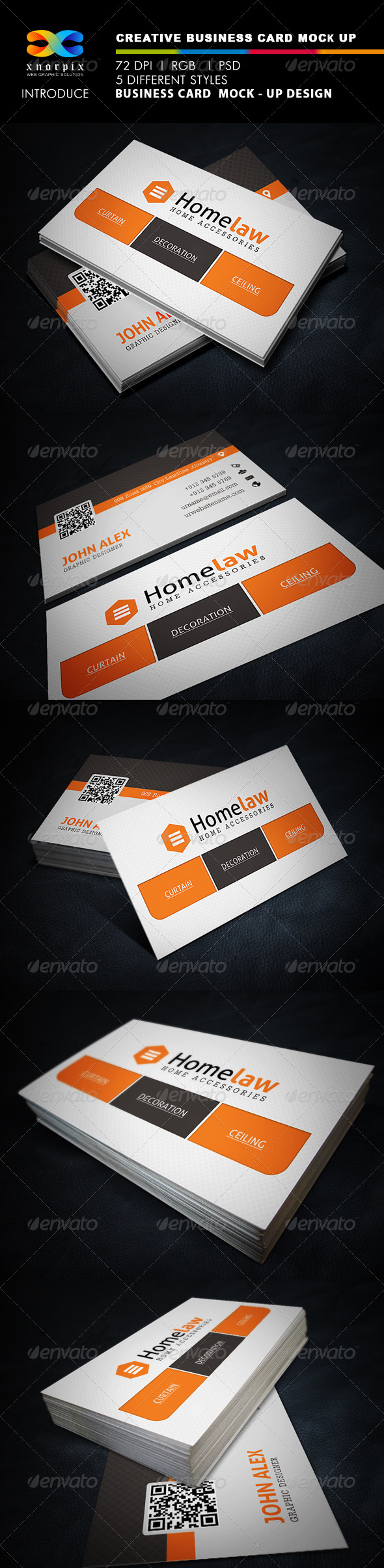 Creative Business Card Mock-up - Business Cards Print