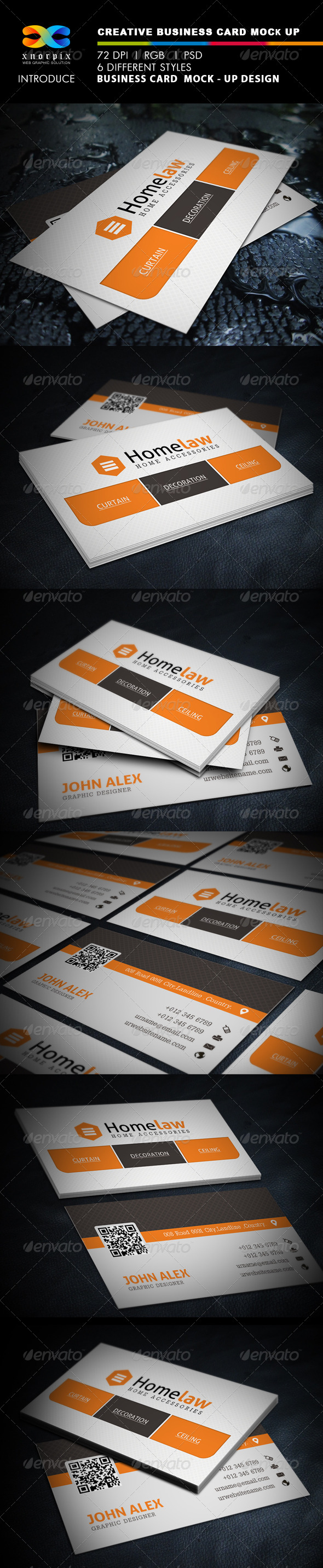 Realistic Business Card Mock-up - Business Cards Print