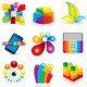 Multicolored Design Icons for Logo. Vector Clipart - GraphicRiver Item for Sale