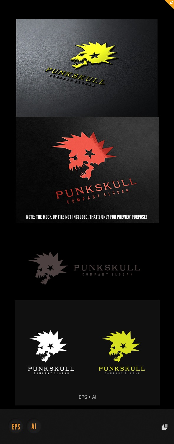 GraphicRiver Punk Skull Logo 4921621