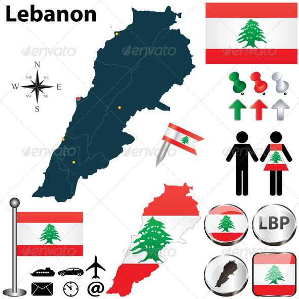 GraphicRiver Map of Lebanon 4921664