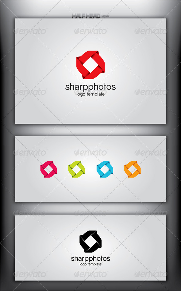 GraphicRiver SharpPhotos Logo Template 4921720