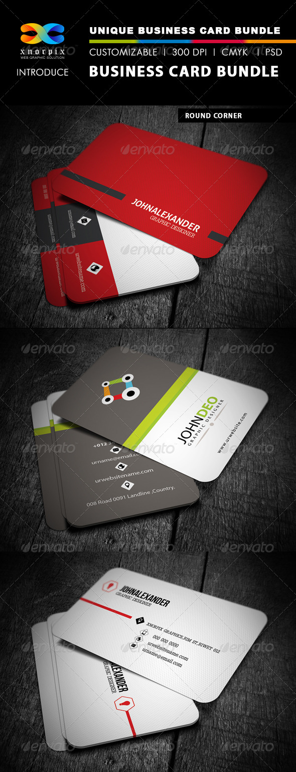 GraphicRiver Business Card Bundle 3 in 1-Vol 3 4921746