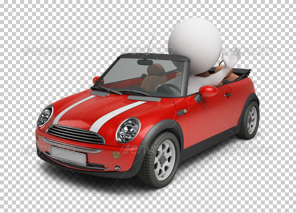 GraphicRiver 3D small people small car 4921919
