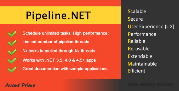 CodeCanyon Pipeline.NET Limited concurrency Task Scheduler 4923910