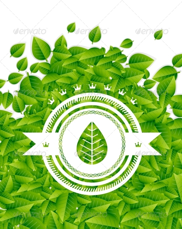GraphicRiver Spring Summer Green Leaves Nature Background 4924237