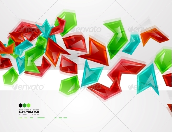 GraphicRiver Colorful Glass Pieces 4924551