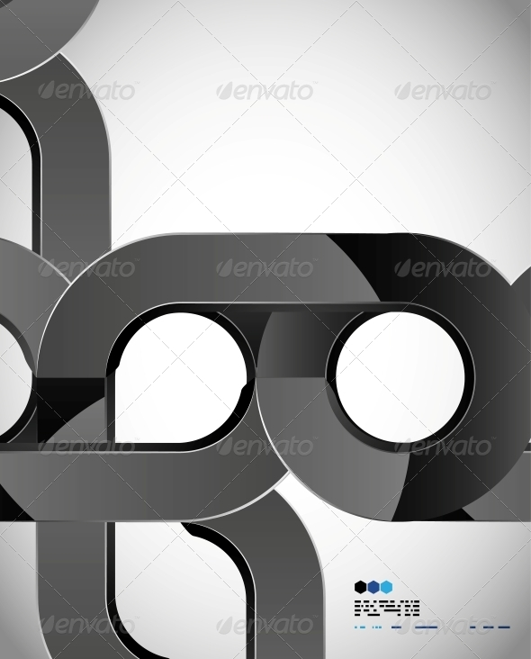 GraphicRiver Aabstract Swirl Techno Shape Design 4924943