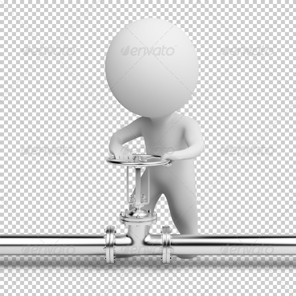 GraphicRiver 3D small people latch 4925425
