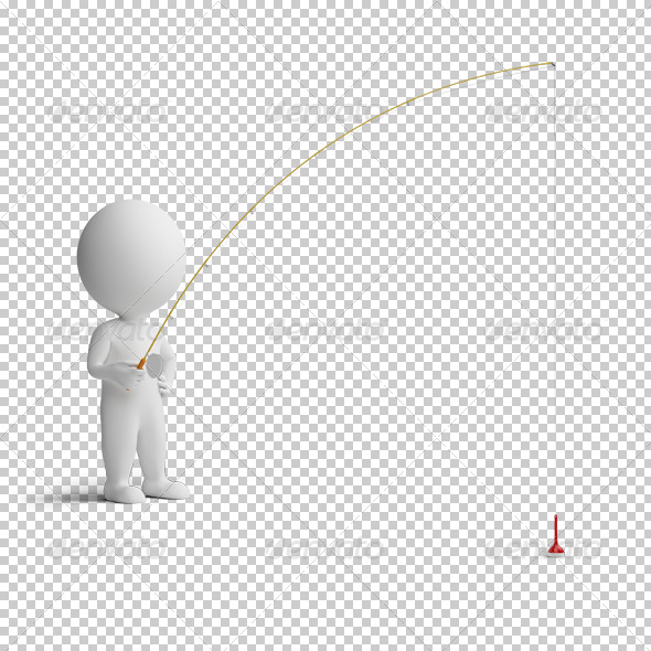 GraphicRiver 3D small people fishing 4925532