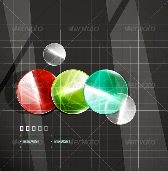 GraphicRiver Glossy Color Circles on Black 4925557