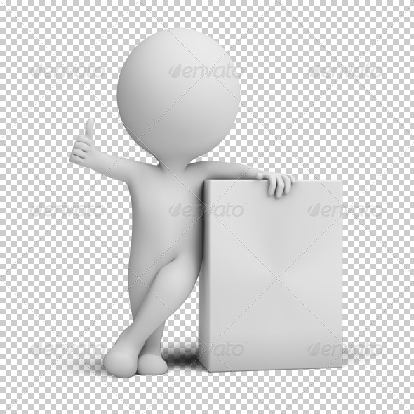 GraphicRiver 3D small people empty product box 4925742