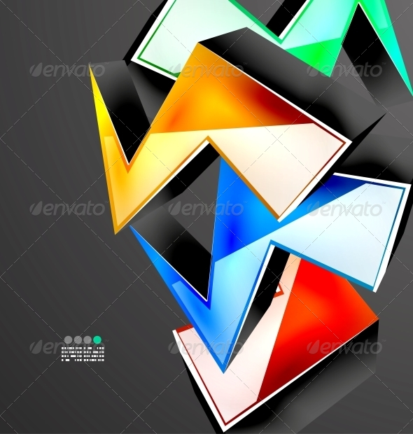 GraphicRiver Abstract 3D Geometrical Design 4925913