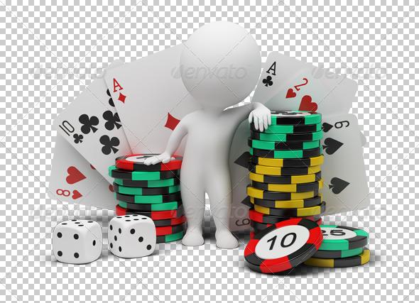 GraphicRiver 3D small people casino 4926204