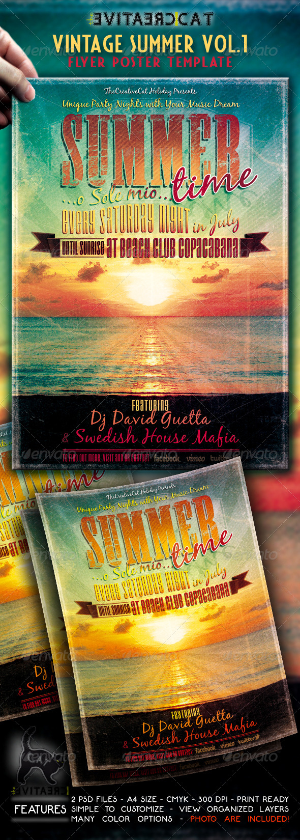 GraphicRiver Vintage Summer Flyer Poster VOL.1 4858286