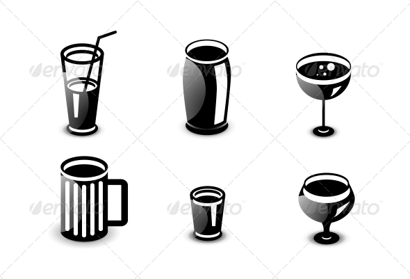 GraphicRiver Glossy Drinks and Beverages Icon Set 4926470