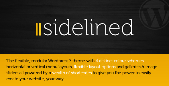 Sidelined - a flexible, modular Wordpress 3 theme