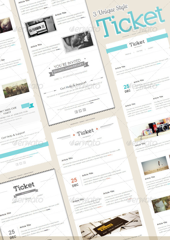 GraphicRiver Ticket Mail 4927147