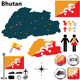 Map of Bhutan - GraphicRiver Item for Sale