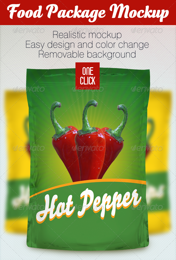 Food Package Mockup - Product Mock-Ups Graphics