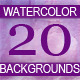 Set of 20 abstract watercolor background. - GraphicRiver Item for Sale