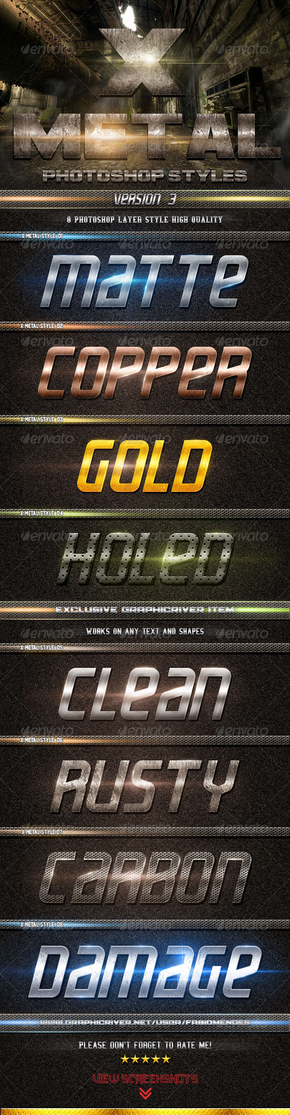GraphicRiver X Metal Styles V.3 4928174