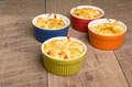 Bright bowls of baked macaroni and cheese - PhotoDune Item for Sale