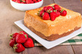 Fresh strawberries and angel food cake - PhotoDune Item for Sale