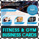Fitness, Gym & Personal Trainer Business Cards - GraphicRiver Item for Sale