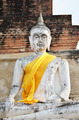 Ancient Buddha statues at Wat Yai Chai Mongkol in Ayutthaya - PhotoDune Item for Sale