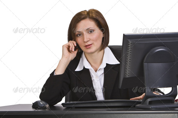 Businesswoman on the Phone  - Stock Photo - Images