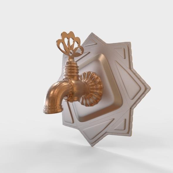 3DOcean Turkish Hamam Faucet Ottoman Style 4929254