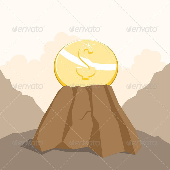 GraphicRiver Dollar on the Rock 4929833