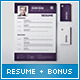 Modern Resume & Cover Letter & Business Cards - GraphicRiver Item for Sale