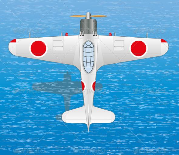 GraphicRiver Mitsubishi A6M Zero 4930059