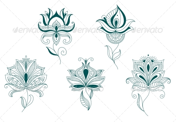 GraphicRiver Abstract Flower Blossoms Set 4930230