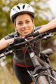Portrait of woman with mountain bike - PhotoDune Item for Sale