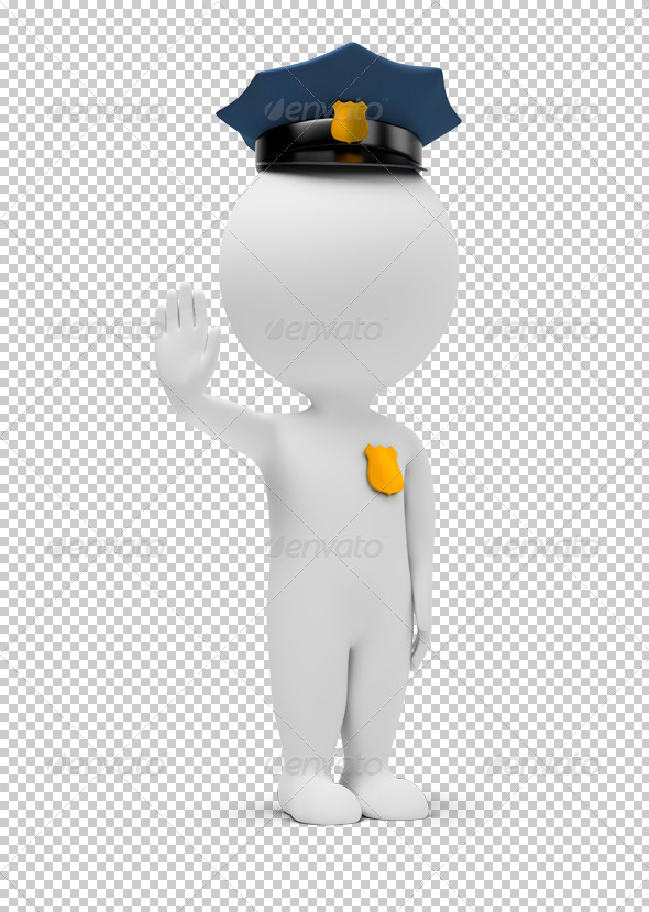 GraphicRiver 3D small people policeman 4930941