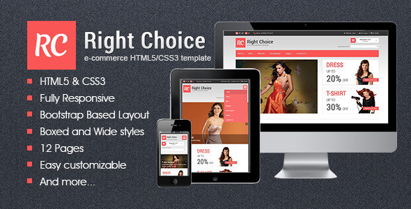 Right Choice - HTML5 & CSS3 E-Commerce Template - Fashion Retail