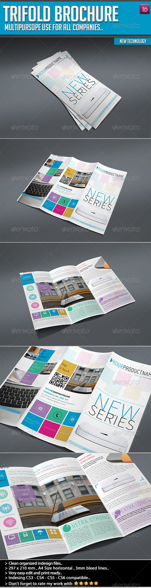GraphicRiver Trifold Brochure New Technology 4931865