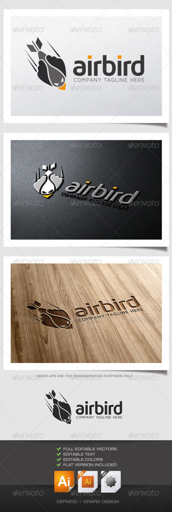 GraphicRiver Air Bird Logo 4932094