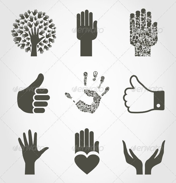 GraphicRiver Set of Hands4 4932959